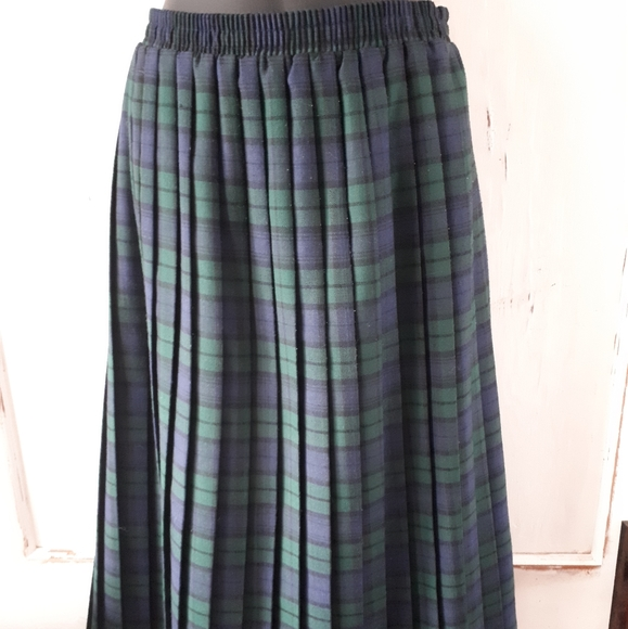 Carroll Reed Dresses & Skirts - Carroll Reed Green Tartan Skirt Small